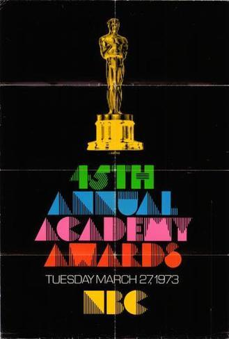 Academy Awards - 45th Poster