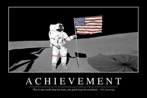 Achievement Inspirational Quote And Motivational Poster