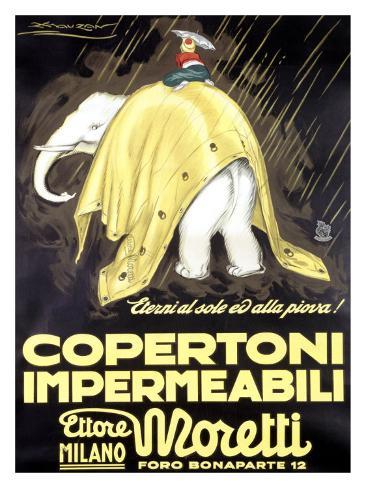Copertoni Impermeabili Moretti Giclee Print