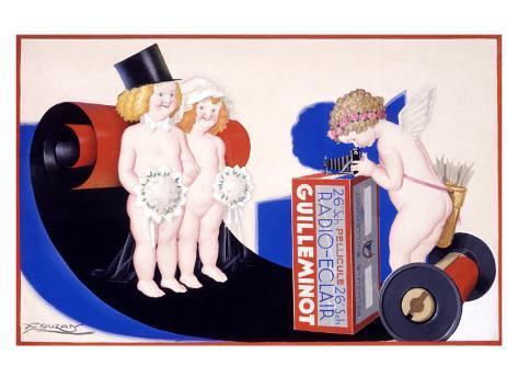 Guilleminot Radio Eclair Giclee Print