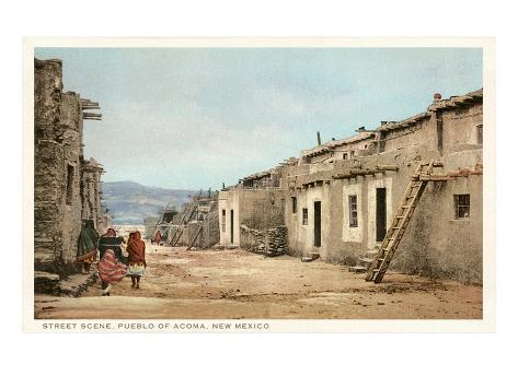 Acoma Pueblo, New Mexico Art Print