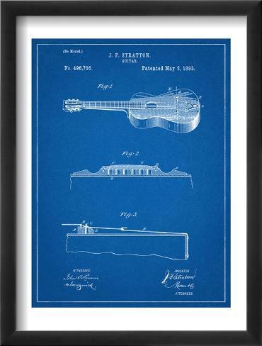 Acoustic Guitar Patent Framed Art Print
