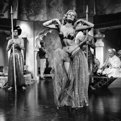 Actress Anita Ekberg Filming at Elstree Studios, December 1955 Photographic Print