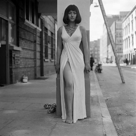 Actress Helen Mirren Who Plays Cleopatra During a Break from Rehearsals at the Scala Theatre Photographic Print