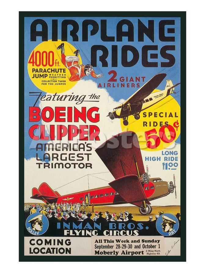 オールポスターズの ad for airplane rides 高画質プリント