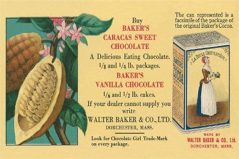 Ad for Baker's Chocolate Taidevedos