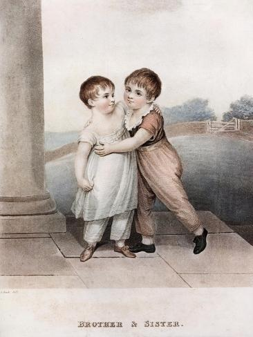 Brother and Sister, Late 18th-Early 19th Century Lámina giclée