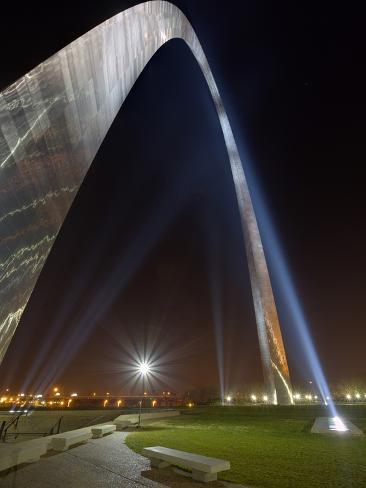 St. Louis Gateway Arch at Dusk, St. Louis, Missouri, Usa Photographic Print