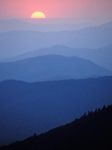 Sunrise, Appalachian Mountains, Great Smoky Mountains National Park, North Carolina, USA Photographic Print