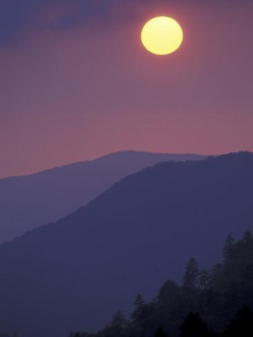 Sunset, Morton Overlook, Great Smoky Mountains National Park, Tennessee, USA Photographic Print