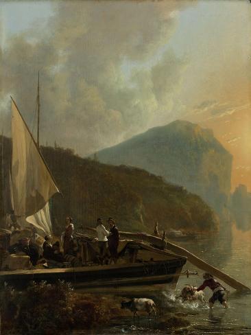 Italianate River Landscape Art Print