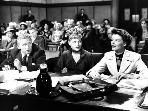 Adam's Rib, Spencer Tracy, David Wayne, Judy Holliday, Katharine Hepburn, 1949 Photo