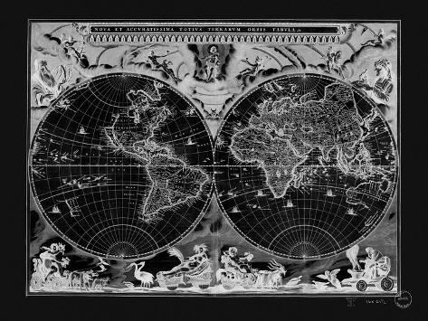 Antique world map poster by adam shaw allposters antique world map publicscrutiny Choice Image