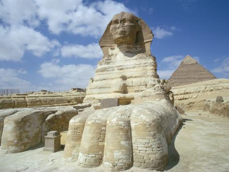 The Sphinx, Giza, Unesco World Heritage Site, Cairo, Egypt, North Africa, Africa Photographic Print