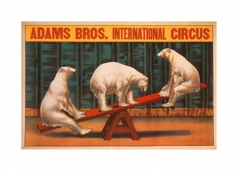 Adams Bros. International Circus Konstprint