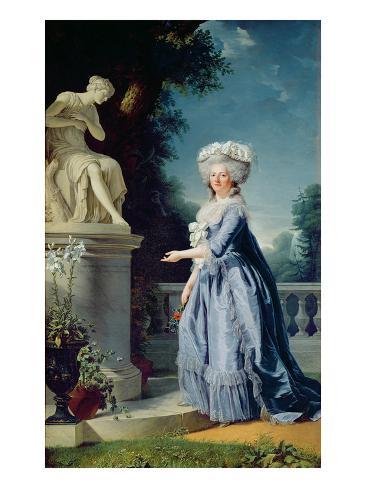 Portrait of Marie-Louise (1733-99) Victoire De France Lámina giclée