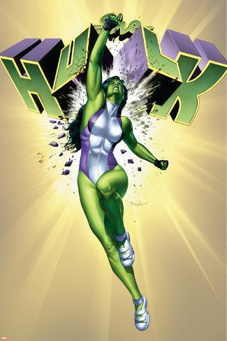 She-Hulk No.6 Cover: She-Hulk Poster