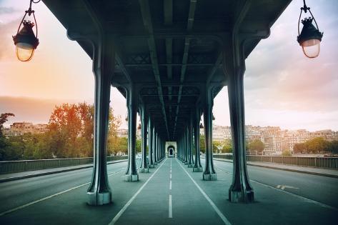 The Pont De Bir-Hakeim Bridge Photographic Print