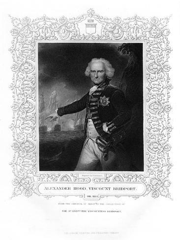 Admiral Alexander Hood, Officer of the Royal Navy, 19th Century Giclee Print
