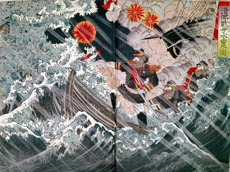 Admiral Amedee Anatole Courbet Impressão giclée
