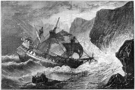 Admiral Somers Runs His Ship Ashore, Bermuda, 1609 Giclee Print