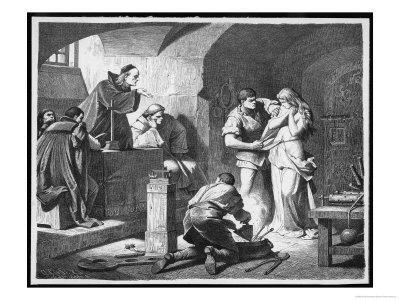 German Inquisitors Question A Suspected Witch While The