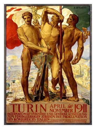 Turin, 1911 Giclee Print