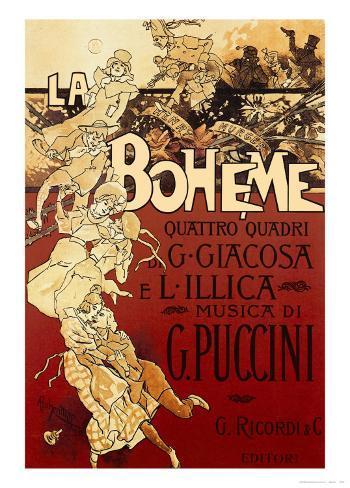 La Boheme, Musica di Puccini Mounted Print
