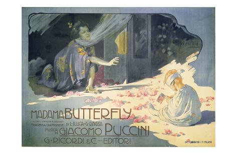 Madame Butterfly 1904 Art Print