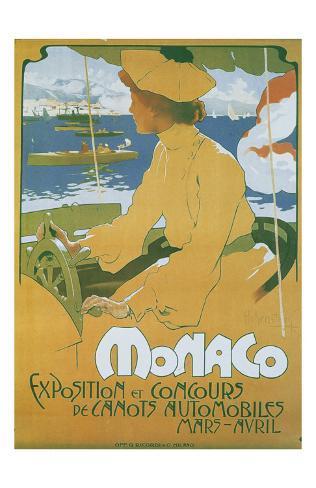 Monaco Exposition et Concours 1904 Art Print