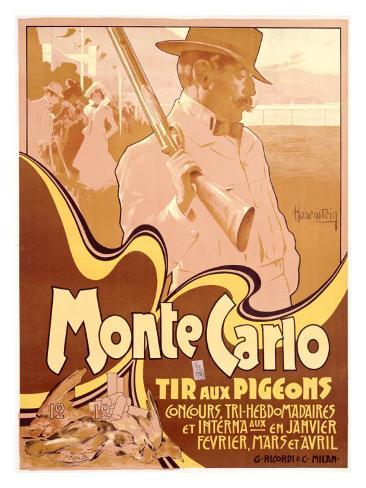 Monte Carlo, Tir aux Pigeons Giclee Print