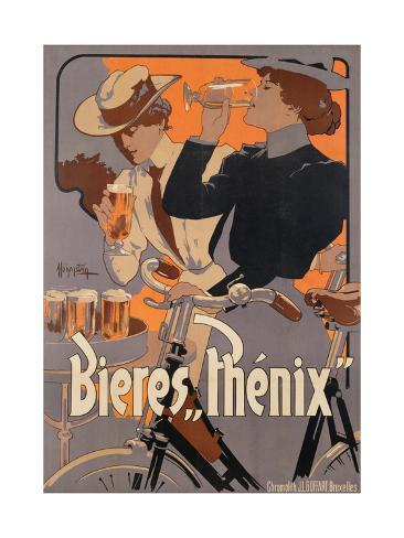 Poster Advertising Phenix Beer, C.1899 (Colour Litho) Giclée-vedos