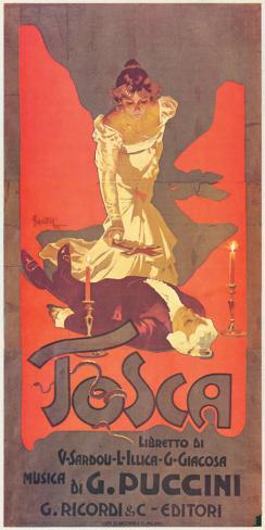 Puccini, Tosca Stretched Canvas Print