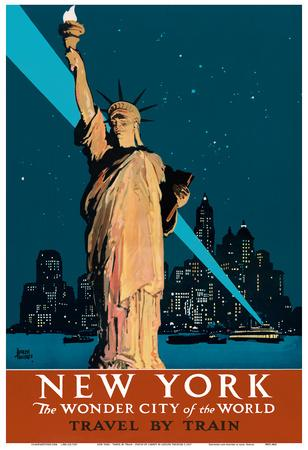 NEW YORK the WONDER city of the WORLD vintage poster TREIDLER USA 1927 24X36