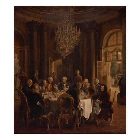 Dinner Table at Sanssouci, 1850 Giclee Print