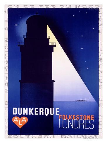 Dunkerque-Folkestone-Londres Giclee Print