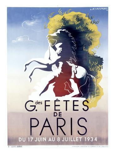 Grandes Fetes de Paris Giclee Print