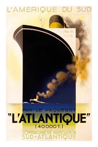 L'Atlantique 1931 Art Print