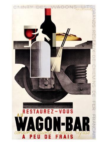 Wagon Bar Giclee Print