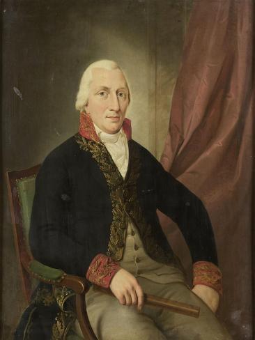 Portrait of Albertus Henricus Wiese, Governor-General of the Dutch East Indies Art Print