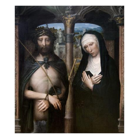 Christ Crowned with Thorns (Ecce Homo), and the Mourning Virgin Art Print