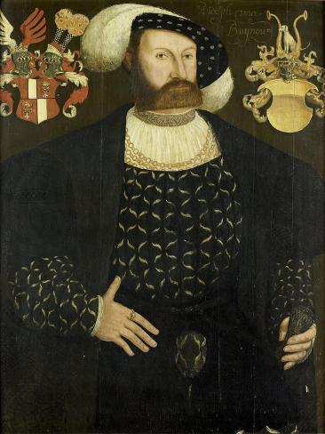 Presumed Posthumous Portrait of Rudolph Van Buynou (Bunau) Art Print