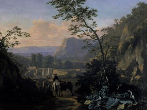 Southern Landscape with Rider, 1654 Giclee Print