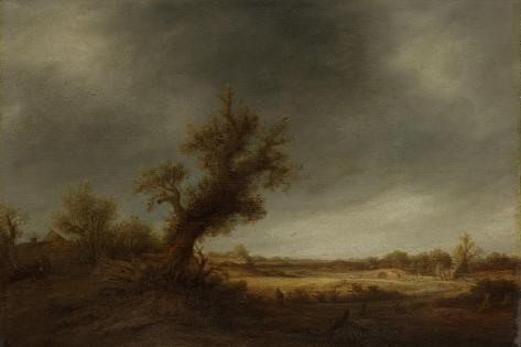 Landscape with an Old Oak Art Print