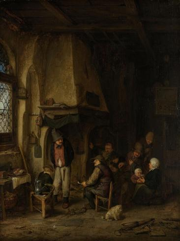 Peasants in an Interior Art Print