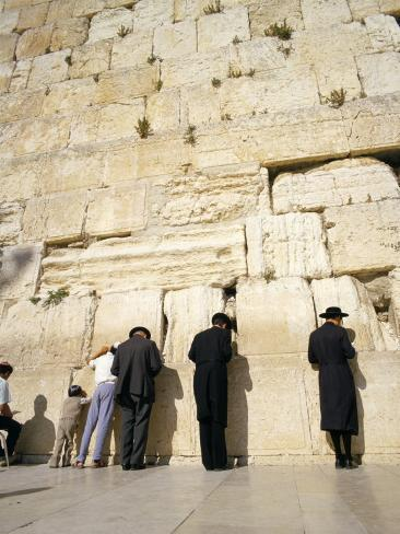 Jews Praying at the Western Wall, Jerusalem, Israel, Middle East Photographic Print