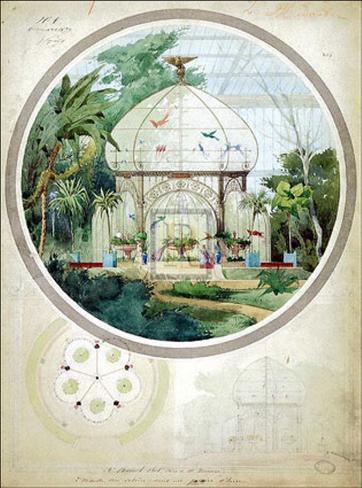 Aviary in a Winter Garden Art Print