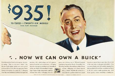 Ads: Buick, 1932 Stretched Canvas Print