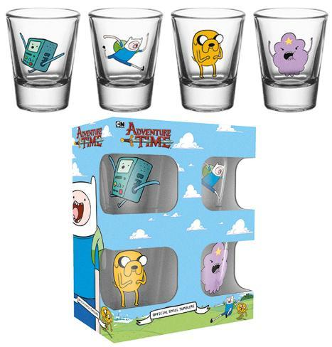 Adventure Time Characters Shot Glass Set Novelty