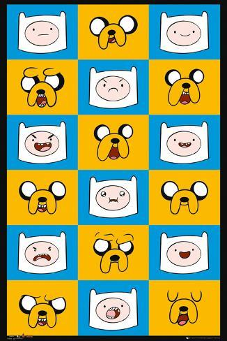 Adventure Time Expressions Poster